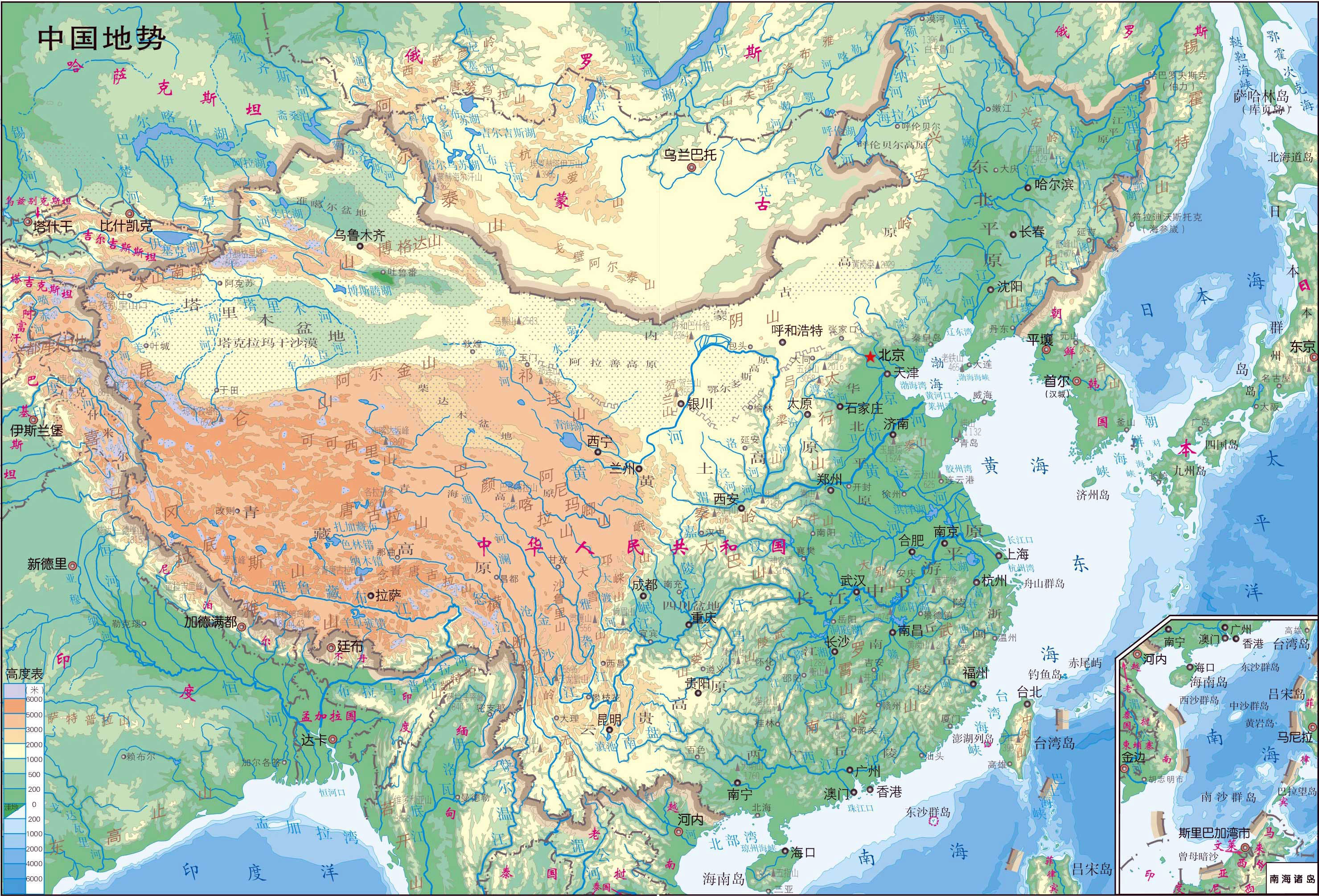 large_detailed_physical_map_of_map_of_China_in_Chinese.jpg