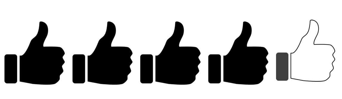 4 of 5 thumbs up