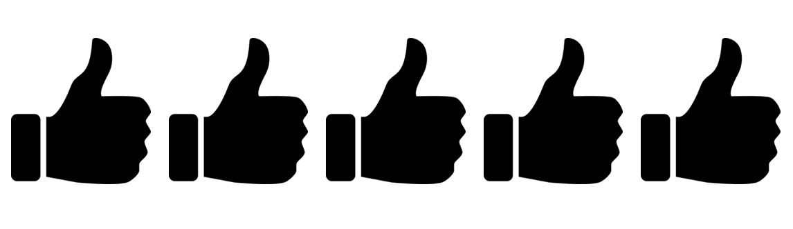 5 of 5 thumbs up