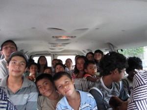Kids in our van