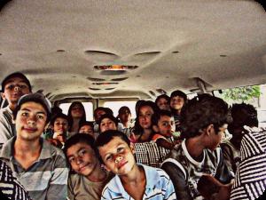 Kids in the van